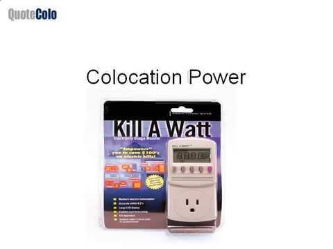 Colocation Server Power Calculation