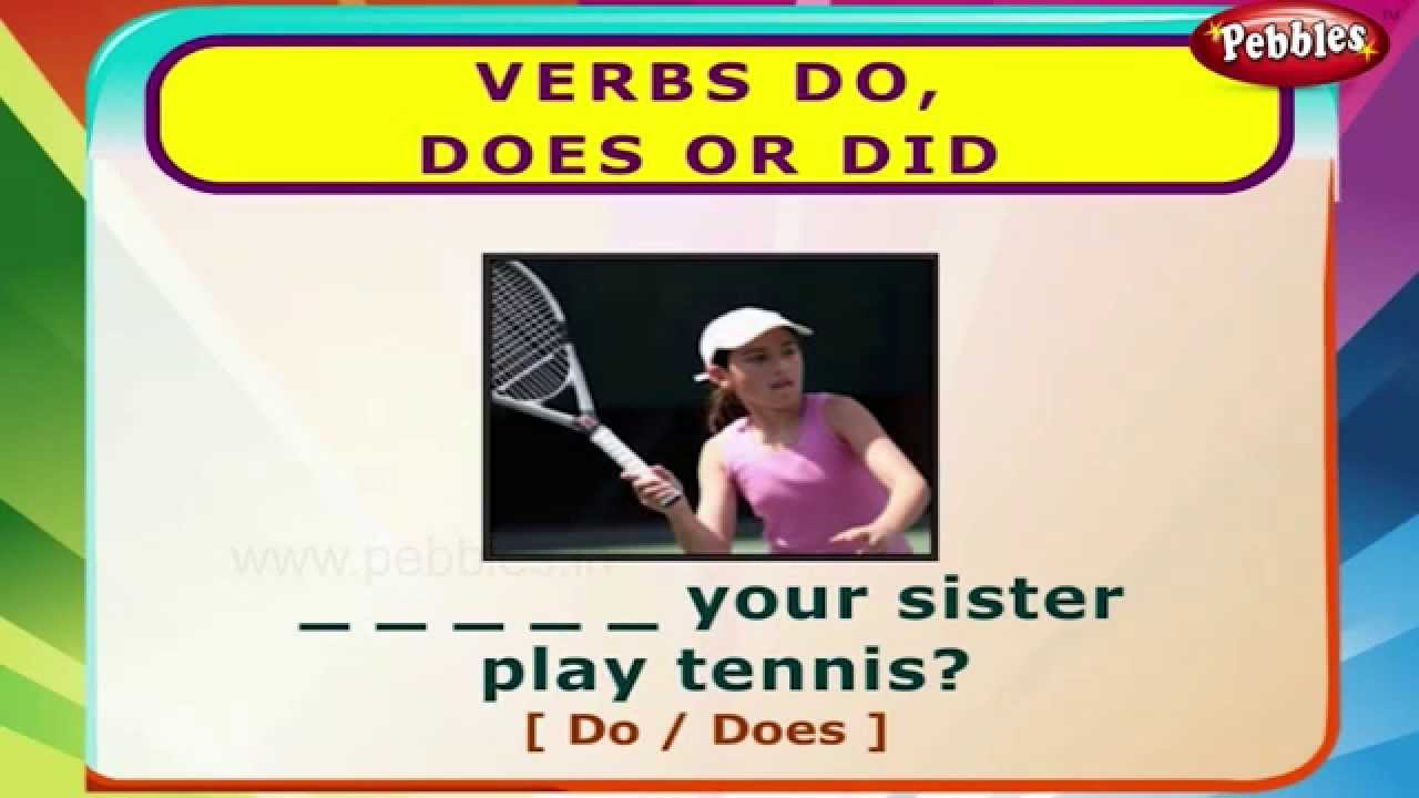 Verbs do does did english grammar exercises for kids english grammar for children youtube