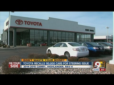 Toyota recalls 110,000 cars for steering issue