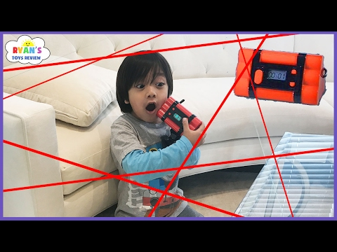 Spy Kid Laser in the House Chrono Bomb Game! Family Fun Activities for Kids with Ryan ToysReview!