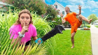 Grace Sharer Disguised as Pond Monster!! (Prank on Stephen Sharer)