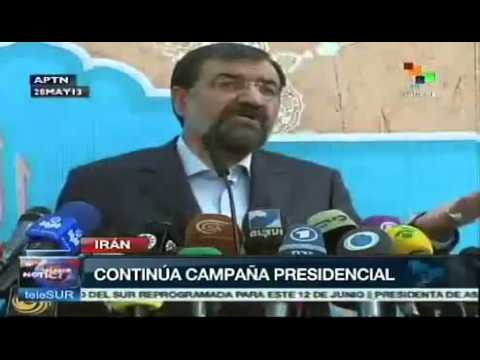 Iran presidential candidates toured Tehran