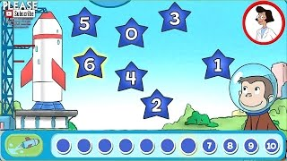 Curious George Blast Off Games for Kids Rocket Launching from 10,9,8,7,6,5,4,3,2,1,0