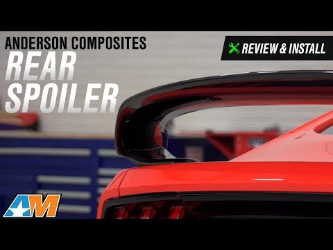 Mustang Anderson Composites GT350R Style Rear Spoiler Review & Install 2015-2017