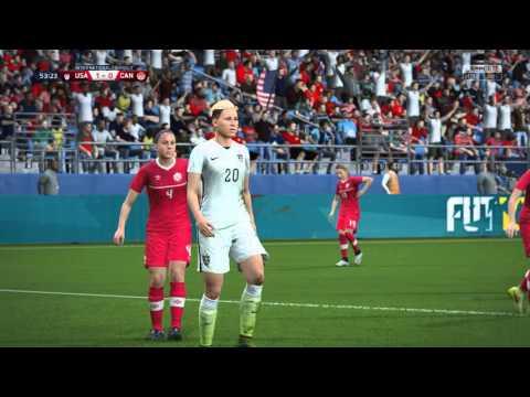 FIFA 16 - USA vs. Canada Women's International Friendly Gameplay