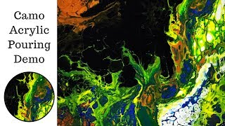 Acrylic Pouring Camouflage