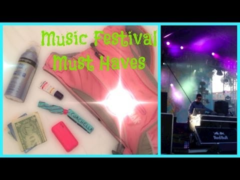 My Concert & Music Festival Must Haves