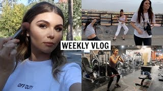 VLOG l workout routine, college, photoshoot, etc.