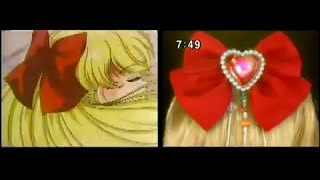 Sailor Moon transformation anime vs. live action