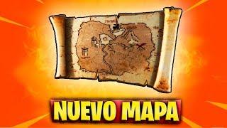 NUEVO MAPA *LA X MARCA EL LUGAR* de FORTNITE   TESORO SECRETO de la TEMPORADA 8