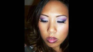 MAC In the Gallery Quad Tutorial_  Pretty Purple Eyes