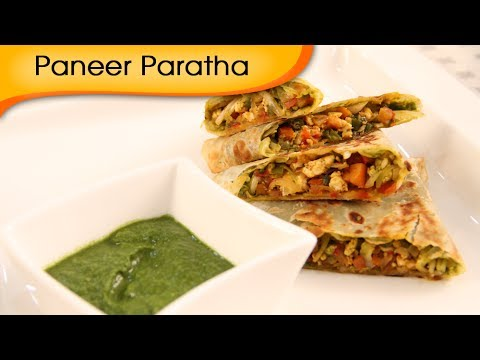 Paneer Bhurji Paratha - Scrambled Cottage Cheese Bread Recipe by Ruchi Bharani [HD]