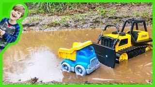 Construction Trucks Rainy Day Adventure