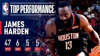 James Harden Drops 47 Points as Houston Takes Down Utah | December 17, 2018