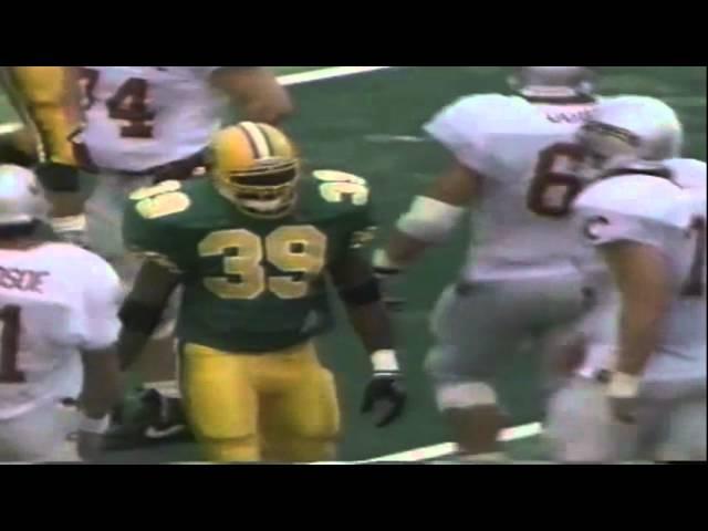 Oregon LB David Massey sacks (kind-of) WSU QB Drew Bledsoe 9-07-1991