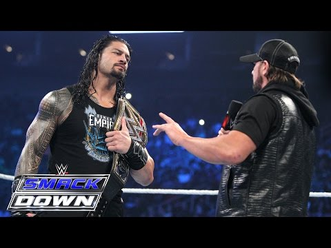 Roman Reigns and AJ Styles size each other up: SmackDown, April 7, 2016