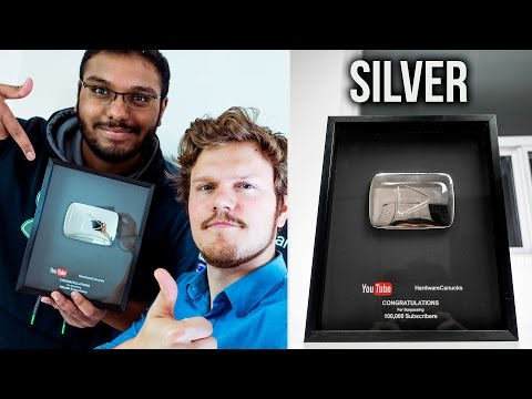 YouTube Play Button Review (Silver)