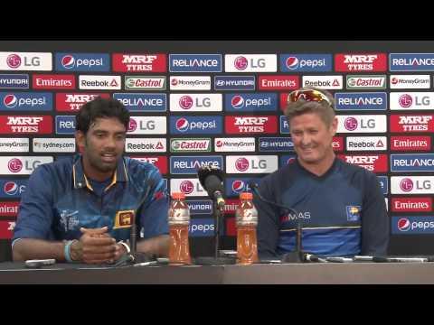 M32 Australia v Sri Lanka Post Match Press Conference, Sachithra Senanayake & Trevor Penney  Sri Lan