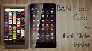 B&N Nook Color Vs iBall Slide Tablet - Quick Comparison