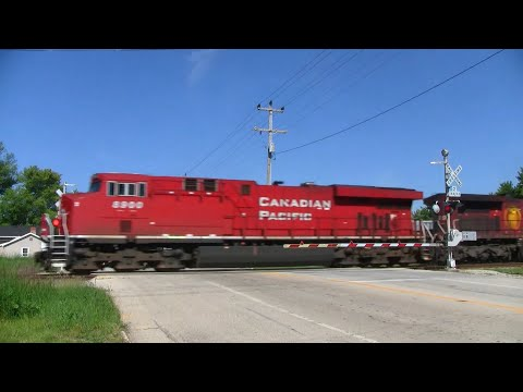 Canadian Pacific Mixed Freight Through Caledonia
