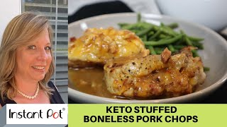 INSTANT POT STUFFED PORK CHOPS | Keto and Gluten-Free