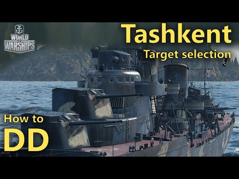 World of Warships: How to DD | Choosing targets in a gunboat (Tashkent)