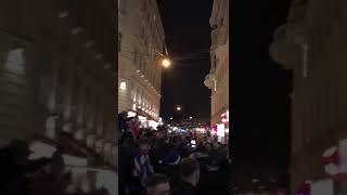 "Rangers fans singing ""10 German Bonbers"" in Vienna tonight."