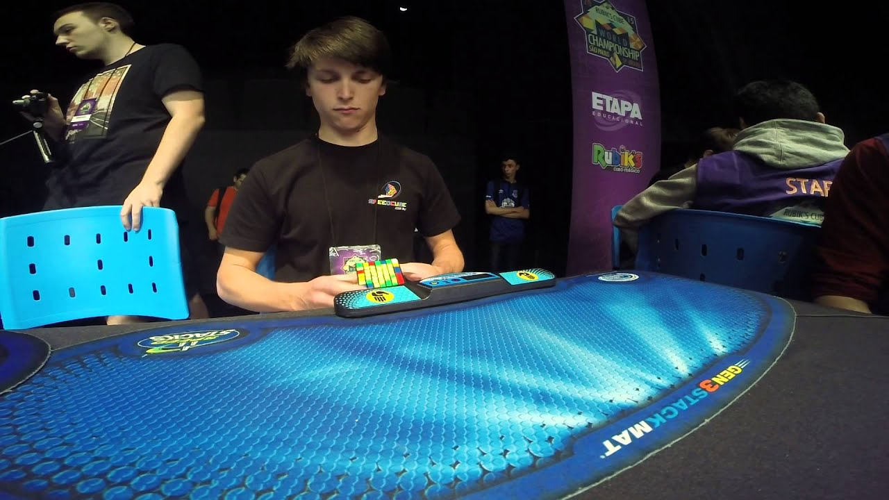 Genius Teen Solves This Giant Rubik's Cube In World Record Time