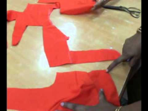 Simple method of stitching saree blouse part-1.