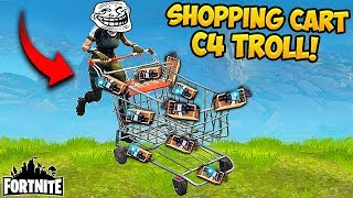 EPIC *NEW* Shopping Cart TROLL! - Fortnite Funny Fails and WTF Moments! #212 (Daily Moments)