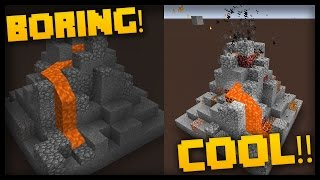 Minecraft: Transforming a VOLCANO with Command Blocks!