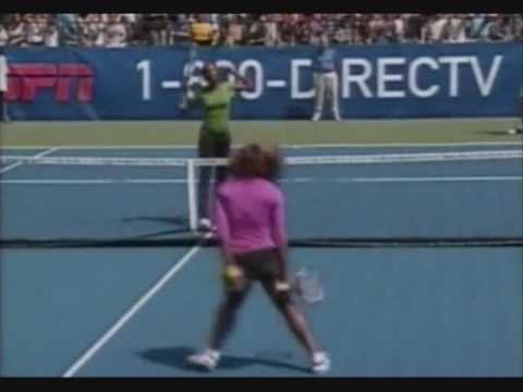 Serena And Venus Williams Dancing On The Tennis Court
