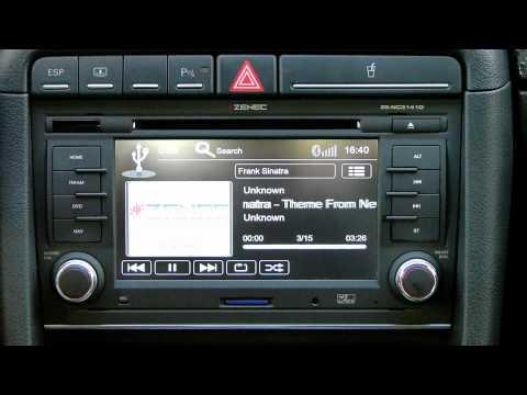 ZENEC ZE-NC3141D AUDI A4 (B7) ve SEAT EXEO Genel Özellikler Tanıtım Videosu