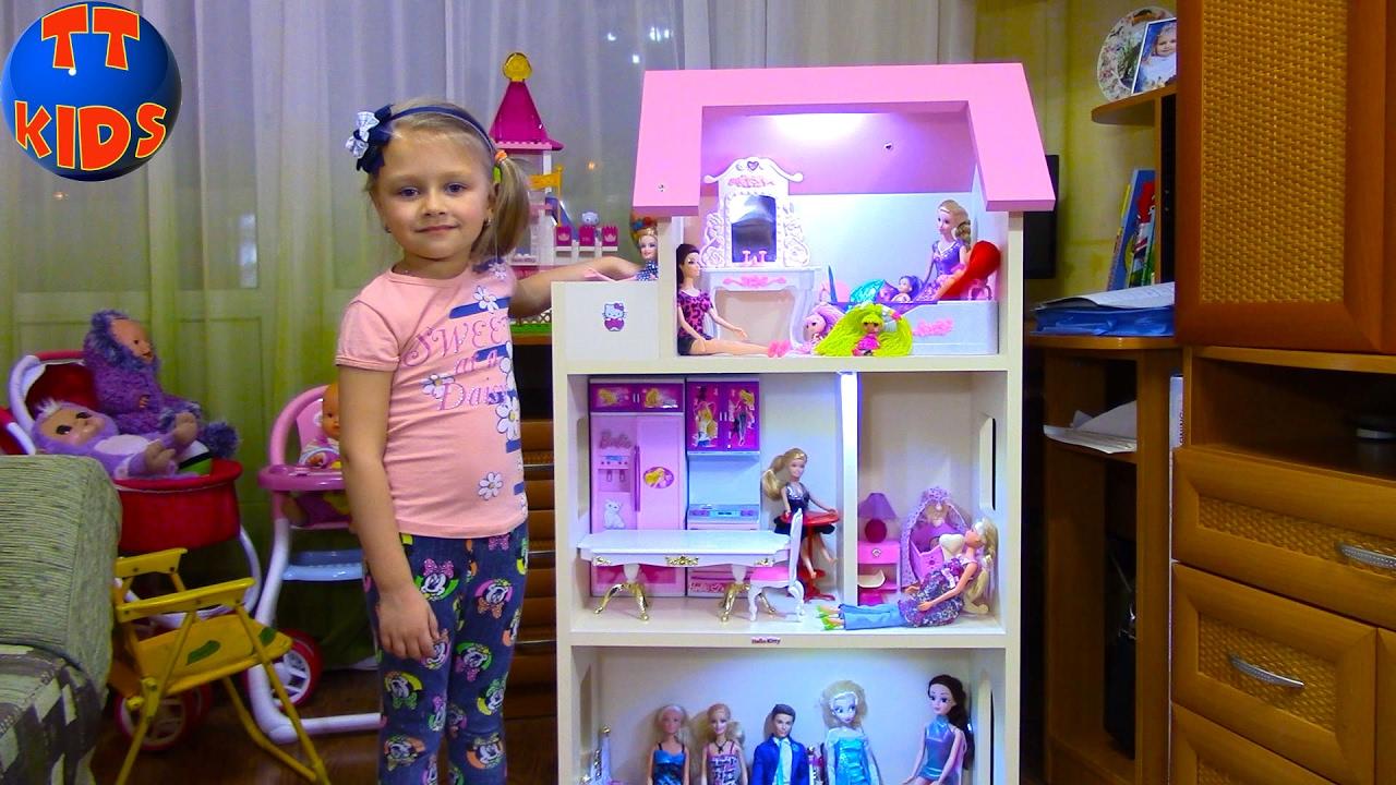 Кукла Барби Делаем свет в Кукольном Доме для Барби Видео для детей Barbie Dolls