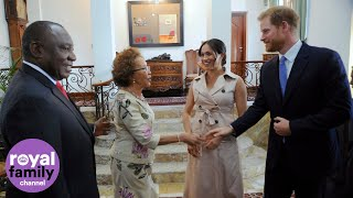 Duke and Duchess of Sussex Welcomed by South African President