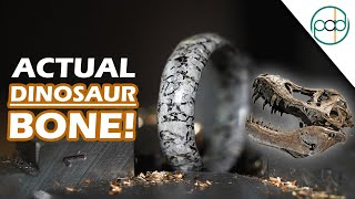 Making a Dinosaur Fossil Ring from Real Dinosaur Bone