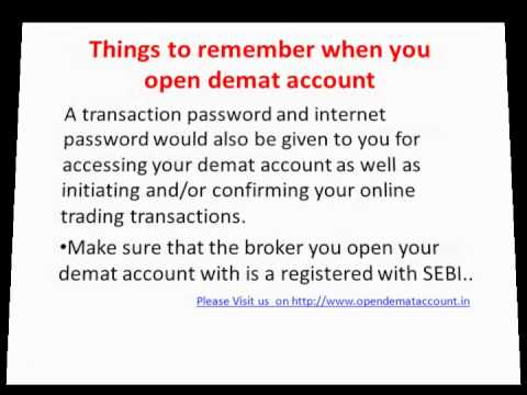 Online share trading account opening documents