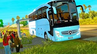 مود الباص| Euro Truck Simulator 2 (Mercedes Travego) ETS2 1.25x & 1.26x (+Download)
