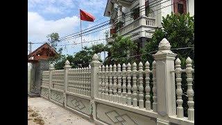 Cách thi công hàng rào bê tông ly tâm : phần1