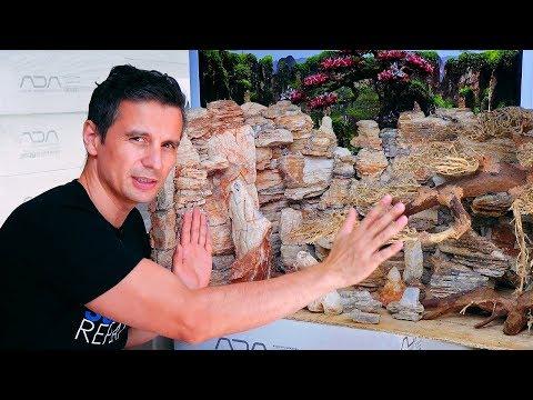 BUILD A CONTEST AQUASCAPE - THE HARDSCAPE & GLUING ROCKS TOGETHER