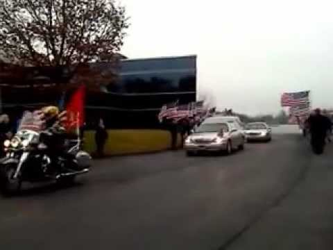Motorcade for Lance Cpl. Anthony Denier