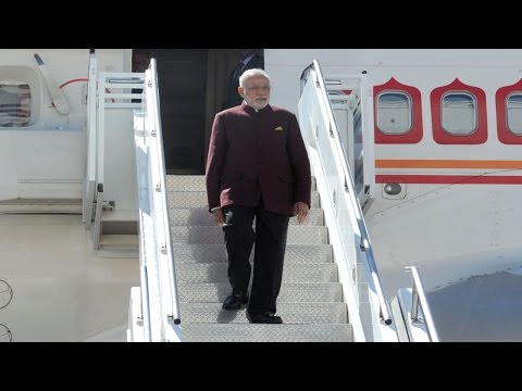 Prime Minister Narendra Modi arrives at New York