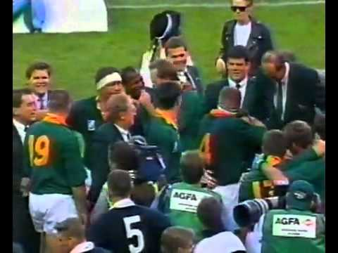 1995 rugby world cup final post game and trophy