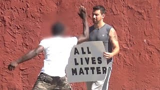 Black Lives Matter vs All Lives Matter Supporters (Social Experiment)