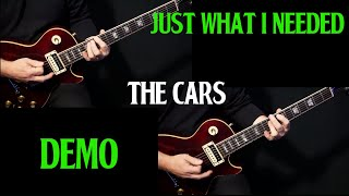 "how to play ""Just What I Needed"" on guitar by The Cars 