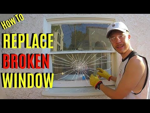 How To Replace Broken Window Pane Glass -Jonny DIY