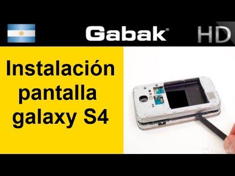 Cambio de pantalla completa galaxy s4 (reemplazo display frame completo)