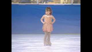 Natasha Frank 3 years Old 1st figure skating competion Music by Beyonce Single Ladies