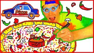 Pretend Play Pizza – How to Draw & Color Pizza Coloring Page – Pizza Delivery