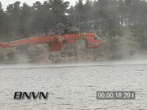 7/22/2005 Colorado Wild Fire S-64 Erickson Air-Crane Video